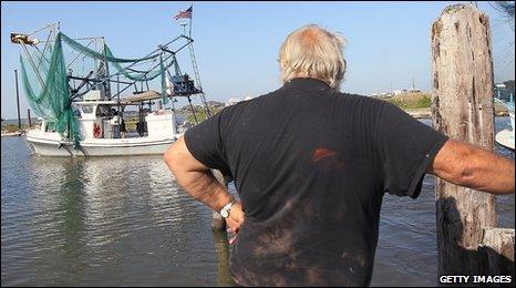 Fisherman in Louisiana
