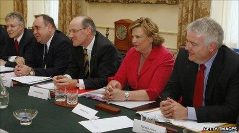 Carwyn Jones (right) at Downing Street