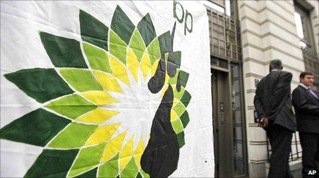 BP logo attacked by Greenpeace