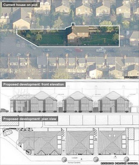 Plans to build a mixture of houses and flats on a garden in south west London were rejected in December