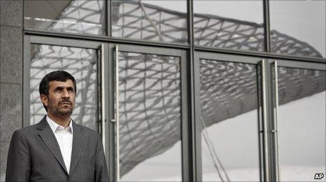 Iranian President Mahmoud Ahmadinejad, at the Shanghai World Expo, 11 June