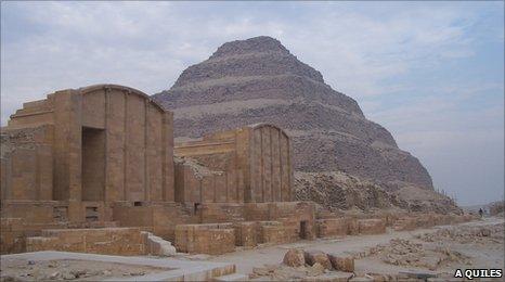 The Step Pyramid of Djoser in Saqqara