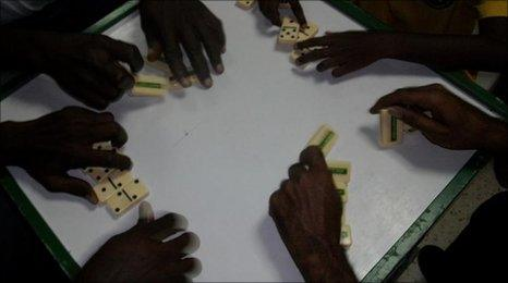 Domino-players in Jamaica