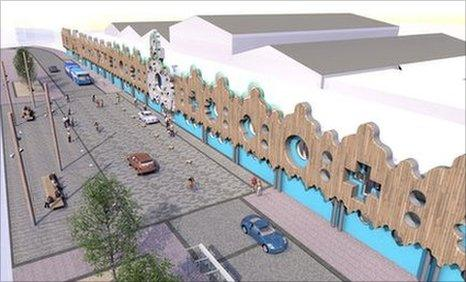 An artist's impression of the production centre
