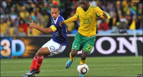 Thierry Henry and Thanduyise Khuboni