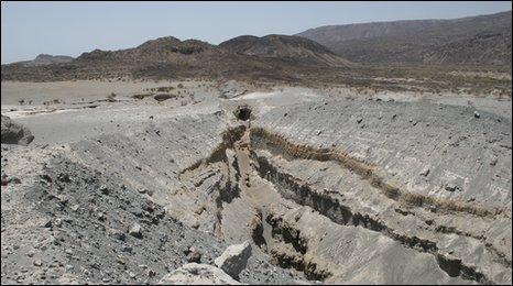 Volcanic vent in Afar region, Ethiopia (Photo: Julie Rowland, University of Auckland)