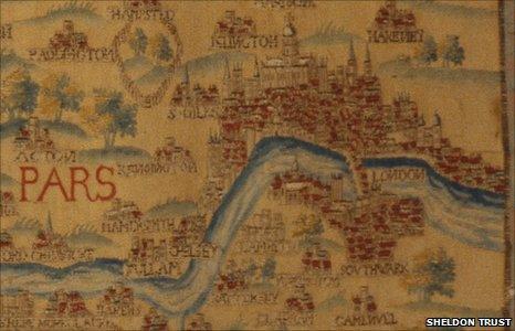 London in tapestry