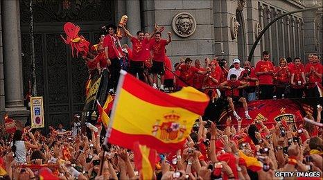 Victory celebration in Madrid, 12 Jul 10