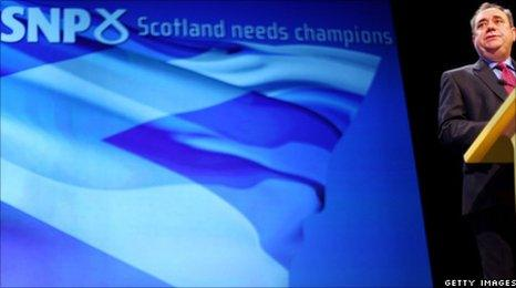 Alex Salmond at conference