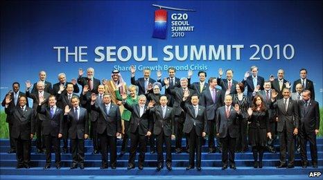 G20 leaders at Seoul summit