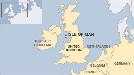 The Isle of Man's position in Europe