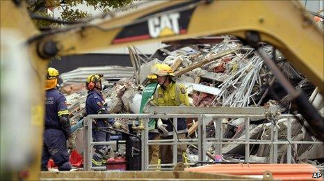 Rescue work at the CTV building on Friday 25 February 2011