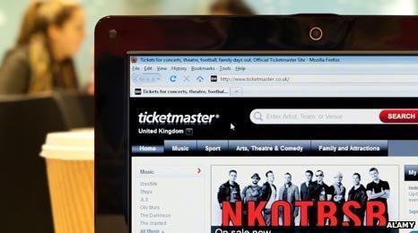 Ticketmaster screengrab