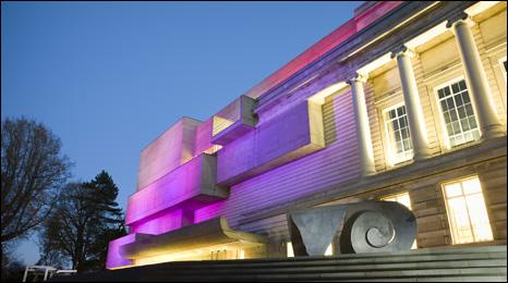 Ulster Museum at night