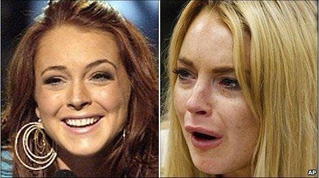 Lindsay Lohan Interracial Porn Captions - Lindsay Lohan's chequered life in the spotlight - BBC News