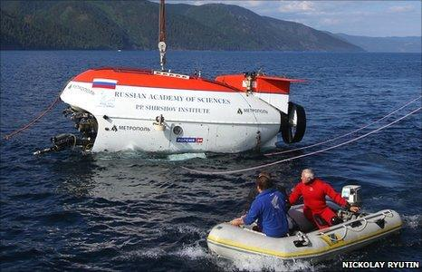 Mir submarine on Lake Baikal
