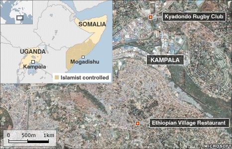 Map of Kampala