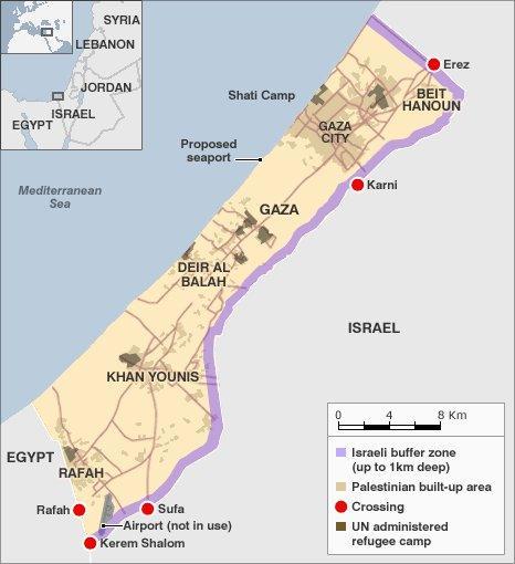 Gaza map