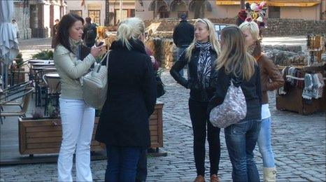Group of women in Latvia