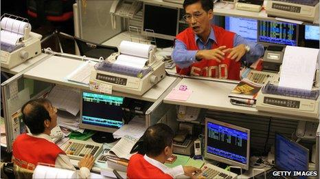 Hong Kong trading floor