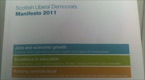 Scottish Lib Dem manifesto