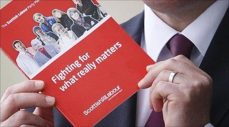 Iain Gray holds Labour manifesto