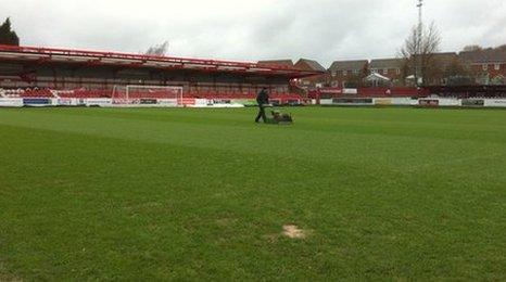 Accrington football pitch