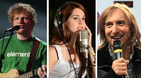Ed Sheeran, Lana Del Rey and David Guetta