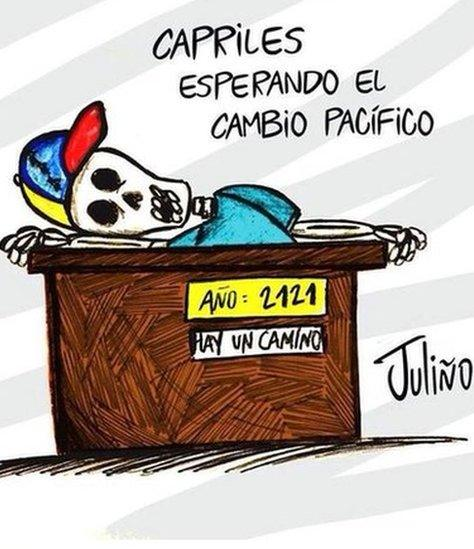 """""""(Henrique) Capriles waiting for a peaceful change"""" referring to opposition leader Henrique Capriles."""