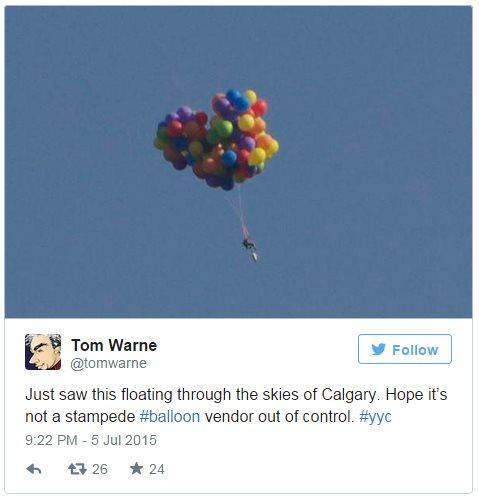 Tweet by Calgary graphic designer Tom Warne - 5 July 2015