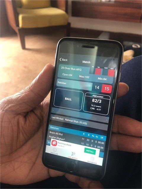 Illegal mobile phone betting app
