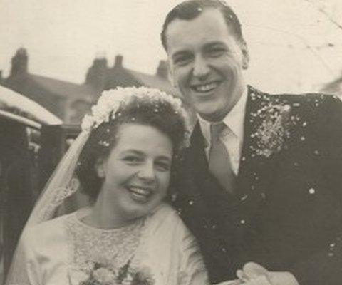 Mary on her wedding day