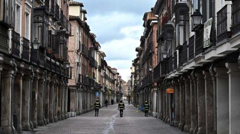 شارع في مدينة ألكالا دي هيناريس بالقرب من مدريد