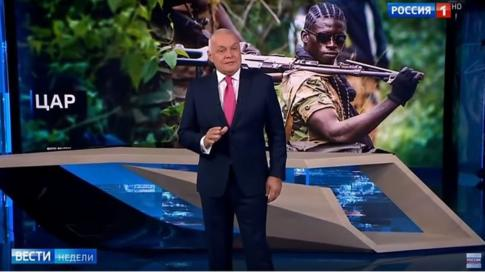Russian TV went out of its way to deny that Russian mercenaries were present in Africa