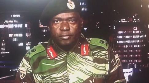 Military spokesman speaking on ZBC, 15 November 2017