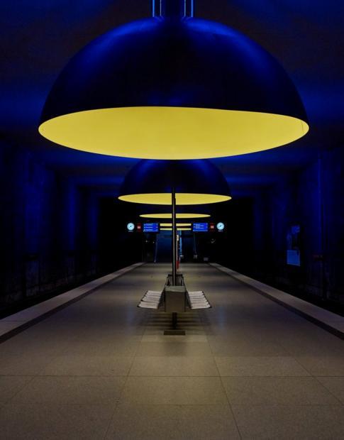 An underground station