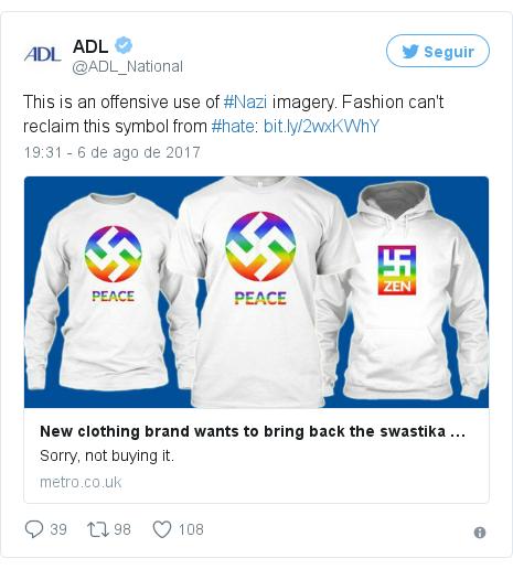 ff4e1c2892896 Marca de camiseta cria polêmica ao tentar transformar suástica em ...