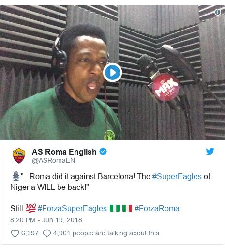 0ddec6e7b How di padi-padi between AS Roma and Nigeria Super Eagles take start ...