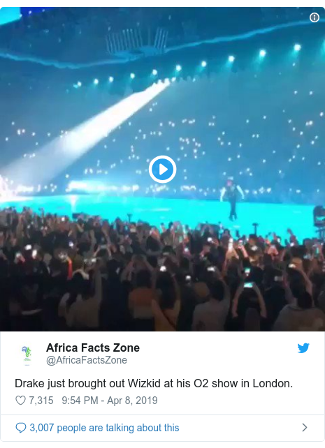 Wizkid and Drake 02 Arena concert performance dey make pipo