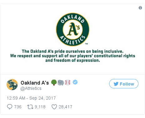 Twitter post by @Athletics