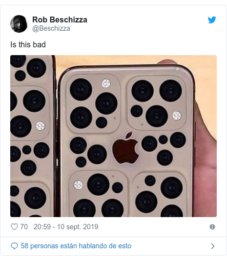 Publicación de Twitter por @Beschizza: Is this bad