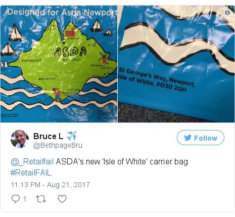 a4240d5878 Asda sorry for  Isle of White  shopping bag gaffe - BBC News