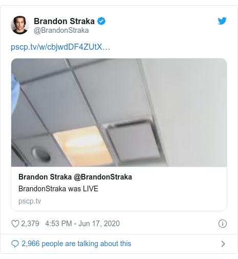 Twitter post by @BrandonStraka: