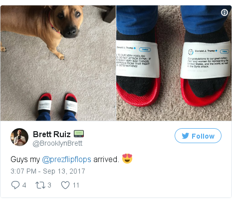 d62b07715f31 Twitter post by  BrooklynBrett  Guys my  prezflipflops arrived. 😍  pic.twitter