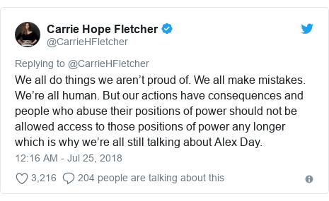 Carrie Hope Fletcher urges Alex Day book boycott - BBC News