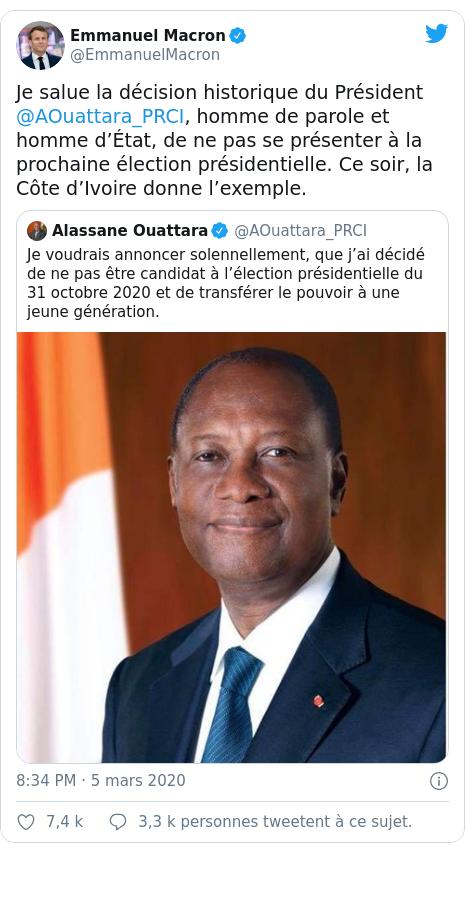 Côte d'Ivoire : Ouattara candidat pour un troisième mandat, Emmanuel Macron réagit  !