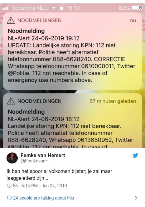 Dutch emergency line hit by KPN telecoms outage - BBC News