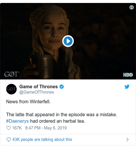 Game of Thrones' coffee cup and 6 other TV and film bloopers