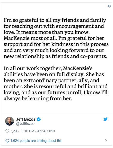 Twitter post by @JeffBezos:
