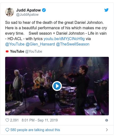 Cult musician Daniel Johnston dies - BBC News